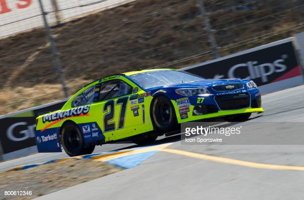 Paul Menard hits the apex of Turn 4A during the Toyota/Save Mart 350 practice on June 23 2017 at Sonoma Raceway in Sonoma CA