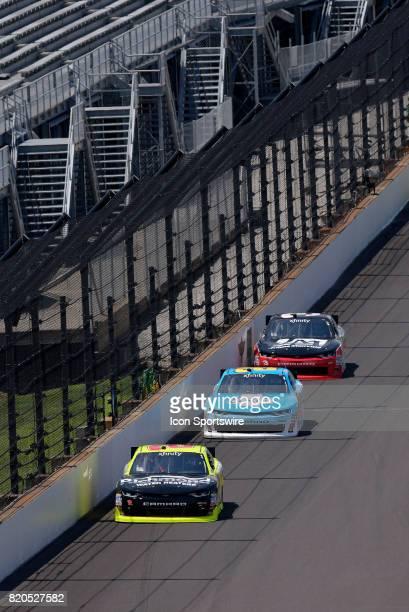 Paul Menard Richard Childress Racing Chevrolet Camaro leads Daniel Hemric Richard Childress Racing Chevrolet Camaro and Ty Dillon Richard Childress...