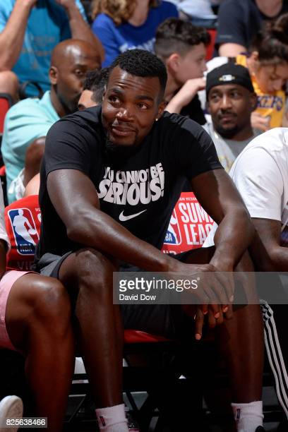 Paul Millsap attends the 2017 Las Vegas Summer League game between the Denver Nuggets and the Toronto Raptors on July 10 2017 at the Cox Pavilion in...