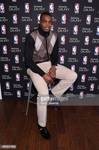 Paul Millsap attends the Samsung Galaxy Studio during NBA All Star 2015 on February 12 2015 in New York City