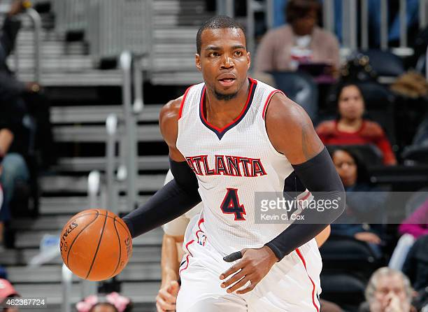 Paul Millsap of the Atlanta Hawks against the Minnesota Timberwolves at Philips Arena on January 25 2015 in Atlanta Georgia NOTE TO USER User...