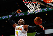 Paul Millsap of the Atlanta Hawks dunks against the Sacramento Kings at Philips Arena on November 18 2015 in Atlanta Georgia NOTE TO USER User...