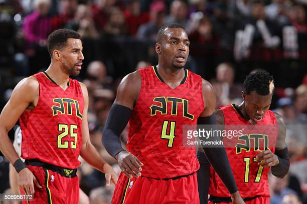 Paul Millsap of the Atlanta Hawks during the game against the Portland Trail Blazers on January 20 2016 at Moda Center in Portland Oregon NOTE TO...