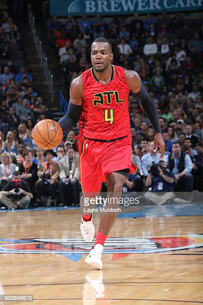 Paul Millsap of the Atlanta Hawks handles the ball against the Philadelphia 76ers on December 10 2015 at Chesapeake Energy Arena in Oklahoma City...