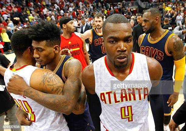 Paul Millsap of the Atlanta Hawks leaves the court after their 10099 loss to the Cleveland Cavaliers in Game Four of the Eastern Conference...