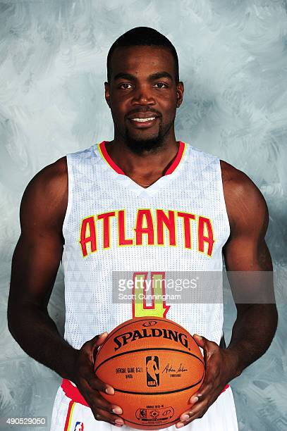 Paul Millsap of the Atlanta Hawks poses during media day on September 28 2015 at Philips Arena in Atlanta Georgia NOTE TO USER User expressly...