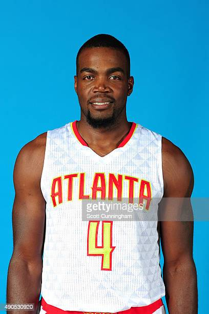 Paul Millsap of the Atlanta Hawks poses for a photo during media day on September 28 2015 at Philips Arena in Atlanta Georgia NOTE TO USER User...