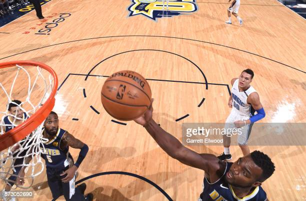 Paul Millsap of the Denver Nuggets dunks against the Orlando Magic on November 11 2017 at the Pepsi Center in Denver Colorado NOTE TO USER User...