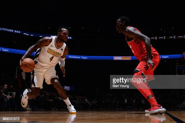 Paul Millsap of the Denver Nuggets handles the ball against the Toronto Raptors on November 1 2017 at the Pepsi Center in Denver Colorado NOTE TO...