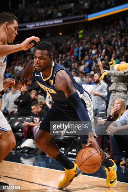 Paul Millsap of the Denver Nuggets handles the ball against the Orlando Magic on November 11 2017 at the Pepsi Center in Denver Colorado NOTE TO USER...