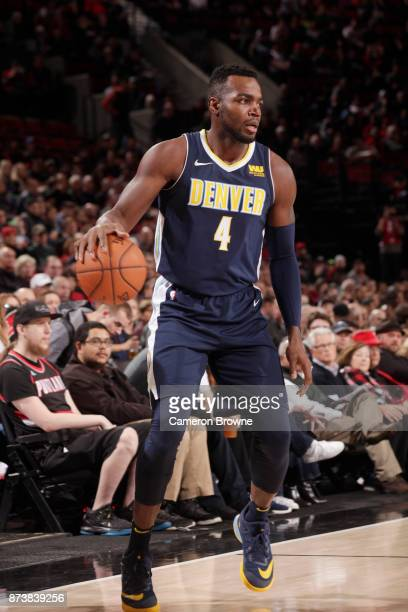 Paul Millsap of the Denver Nuggets handles the ball against the Portland Trail Blazers on November 13 2017 at the Moda Center in Portland Oregon NOTE...