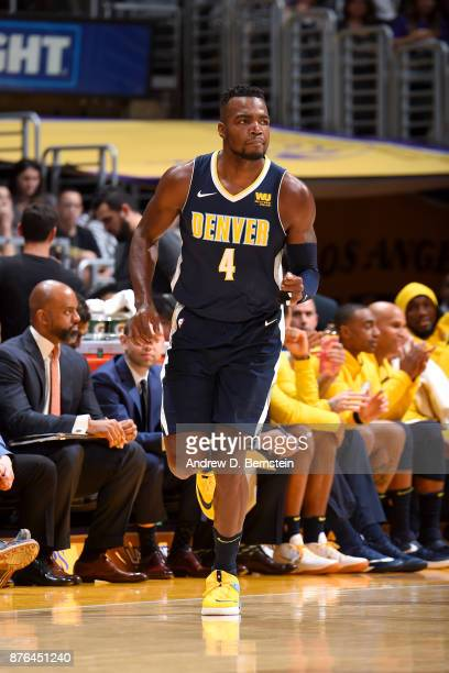Paul Millsap of the Denver Nuggets looks on during the game against the Los Angeles Lakers on November 19 2017 at STAPLES Center in Los Angeles...