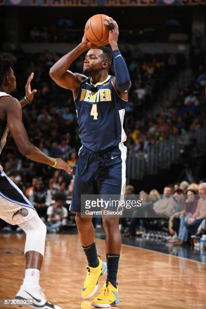 Paul Millsap of the Denver Nuggets passes the ball against the Orlando Magic on November 11 2017 at the Pepsi Center in Denver Colorado NOTE TO USER...