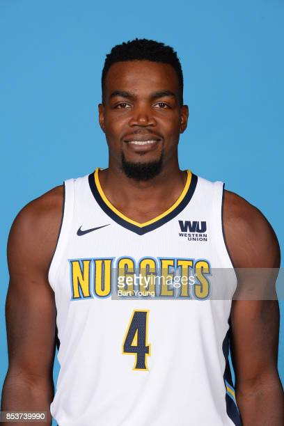 Paul Millsap of the Denver Nuggets poses for a head shot during Media Day on September 25 2017 at the Pepsi Center in Denver Colorado NOTE TO USER...