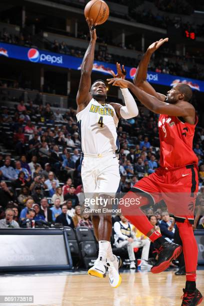 Paul Millsap of the Denver Nuggets shoots the ball against the Toronto Raptors on November 1 2017 at the Pepsi Center in Denver Colorado NOTE TO USER...