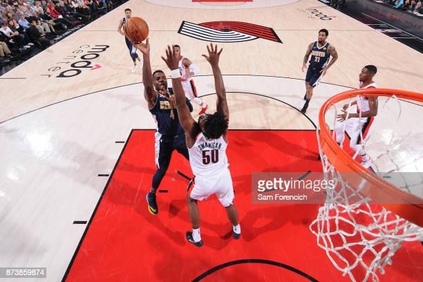 Paul Millsap of the Denver Nuggets shoots the ball against the Portland Trail Blazers on November 13 2017 at the Moda Center in Portland Oregon NOTE...