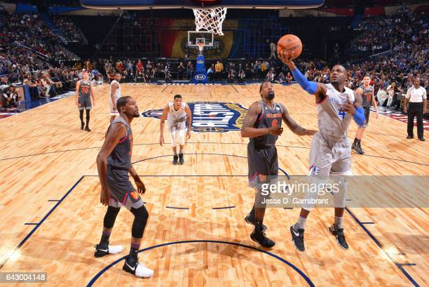 Paul Millsap of the Eastern Conference goes up for a lay up during the NBA AllStar Game as part of the 2017 NBA All Star Weekend on February 19 2017...