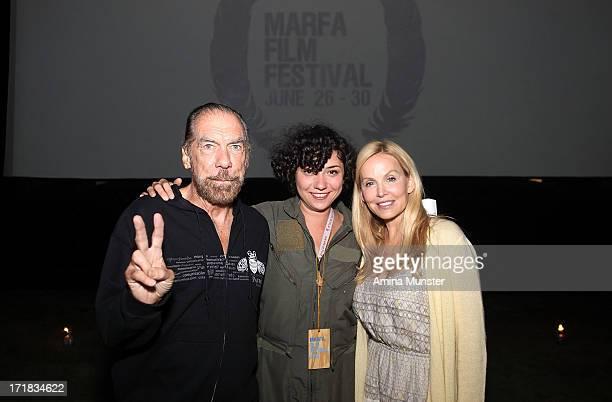 Paul Mitchell CEO John Paul DeJoria Marfa Film Festival founder Robin Lambaria and Eloise DeJoria attend the 2013 Marfa Film Festival in Marfa Texas...