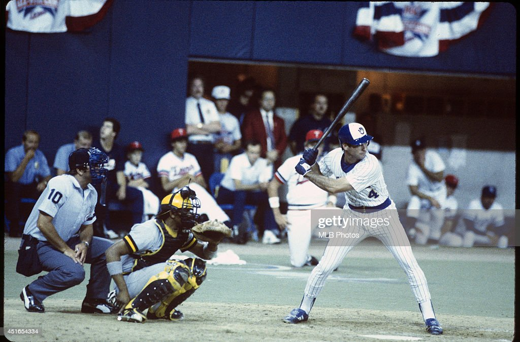 Paul Molitor #4 of the Milwaukee Brewers bats against the National League during the 56th Major League Baseball All-Star Game at the Hubert H. Humphrey Metrodome on Tuesday, July 16, 1985 in Minneapolis, MN. (Photos by MLB Photos ) *** Paul Molitor