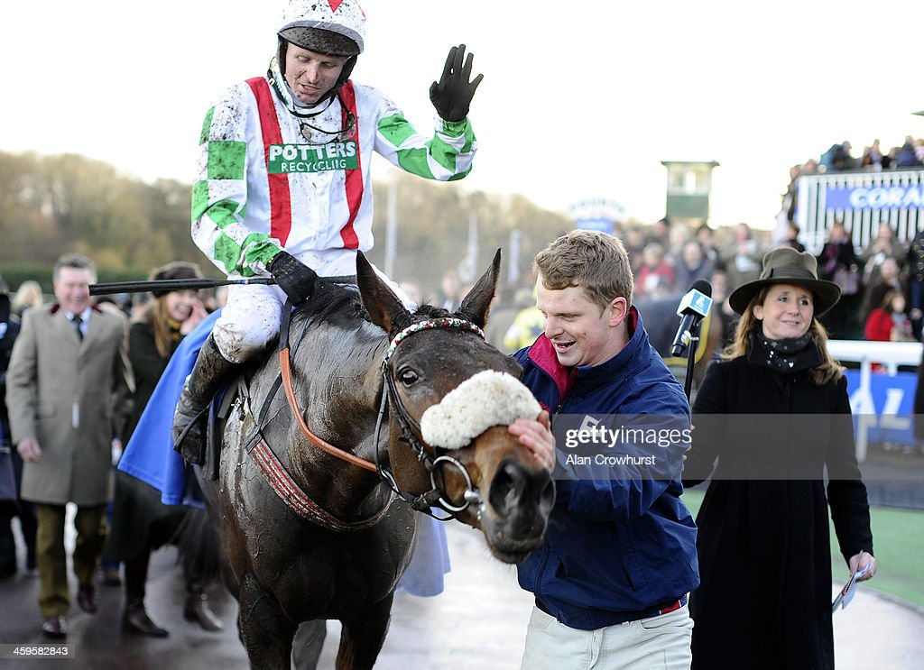 Paul Moloney riding Mountainous win The Coral Welsh Grand National at Chepstow racecourse on December 28, 2013 in Chepstow, Wales.