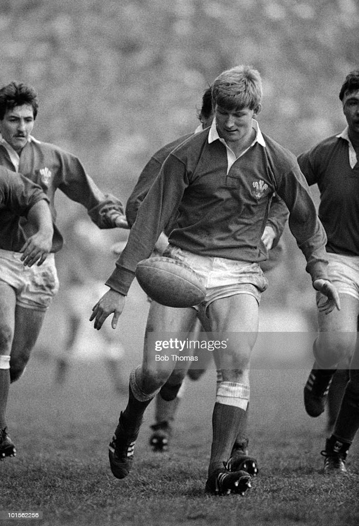 Paul Moriaty of Wales during the Ireland v Wales Rugby Union International match played a Lansdowne Road, Dublin on the 15th February 1986. Wales won the match 19-12.