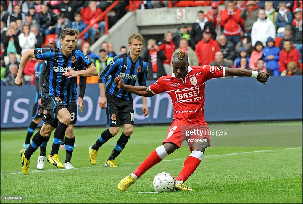 Paul Mpoku of Standard Liege pictured during the Jupiler League Play-offs 1 match between Standard Liege and Club Brugge , on May 12 , 2013 in Sclessin, Belgium
