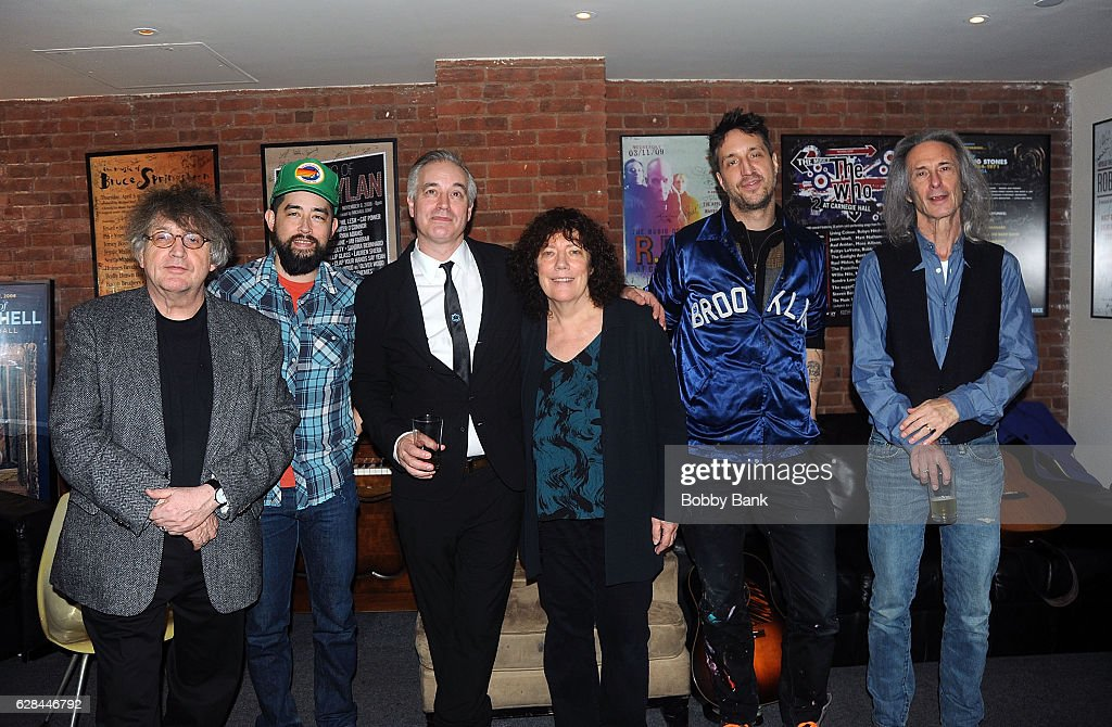 Paul Muldoon, Jackie Greene, Wesley Stace, Bridget St. John, Joseph Arthur and Lenny Kaye perform at the Stories of the Street: Celebrating the Life & Music of Leonard Cohen at City Winery on December 7, 2016 in New York City.