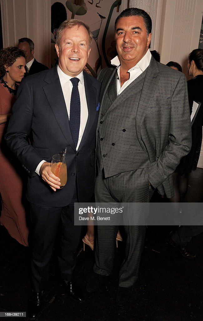 Paul Munford (L) and Kam Babaee attend the launch of Candy Magazine's Spring/Summer 2013 issue, supported by Grey Goose, at Il Bottaccio on May 9, 2013 in London, England.