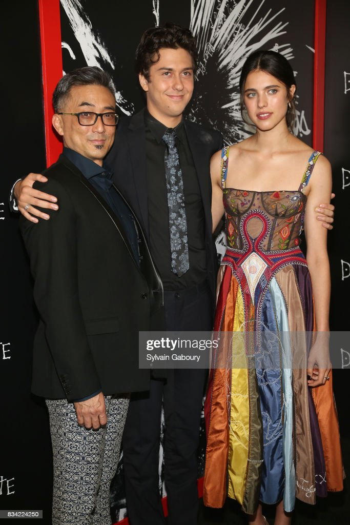 Paul Nakauchi, Nat Wolff and Margaret Qualley attend 'Death Note' New York Premiere at AMC Loews Lincoln Square 13 theater on August 17, 2017 in New York City.