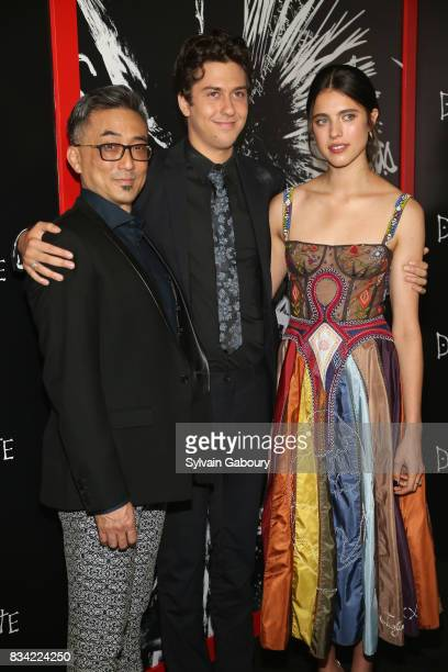 Paul Nakauchi Nat Wolff and Margaret Qualley attend 'Death Note' New York Premiere at AMC Loews Lincoln Square 13 theater on August 17 2017 in New...