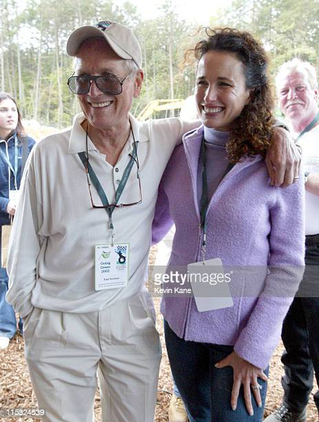 Paul Newman and Andie MacDowell during Paul Newman Andie MacDowell Petty Family Kick Off 'Going Green' Celebration For Victory Junction Gang Camp at...