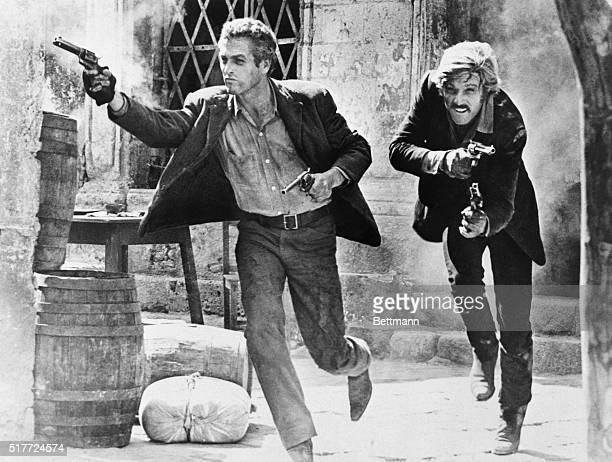 Paul Newman and Robert Redford in a scene from the movie Butch Cassidy and the Sundance Kid