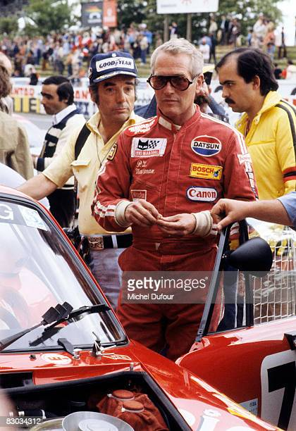 Paul Newman attends the 24hr Grand Prix circa 1979 in Le Mans France