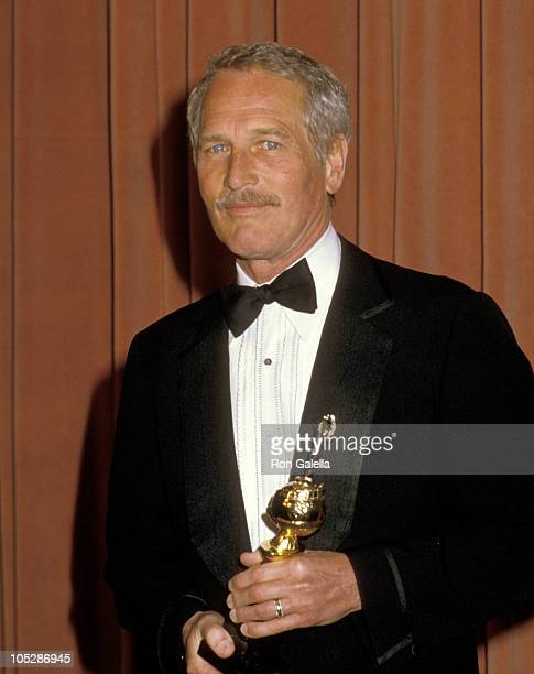 Paul Newman during 41st Annual Golden Globe Awards at The Beverly Hilton Hotel in Beverly Hills California United States