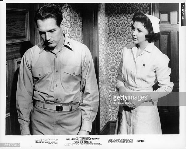 Paul Newman looks away from Myrna Loy in a scene from the film 'From The Terrace' 1960