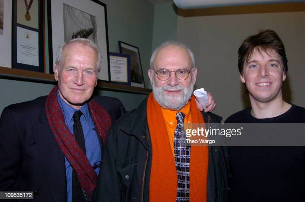 Paul Newman Oliver Sacks and Joshua Bell during Friends and Celebrities Greet Joshua Bell after his 'Live From Lincoln Center' Performance at Lincoln...