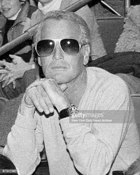 Paul Newman tried to remain inconspicuous in the audience at Madison Square Garden as he watches daughter Clea in Horse Show