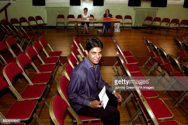 Paul Nicholas smiles after opening his ALevel exam results to find five grade 'A's' at his school St Dunstan's College in Catford southeast London...