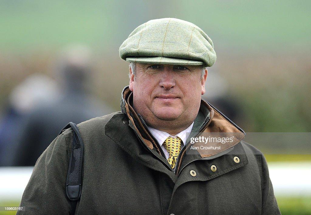 Paul Nicholls poses at Wincanton racecourse on January 17, 2013 in Wincanton, England.