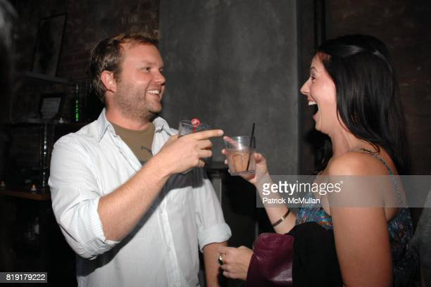 Paul Notzold Stephanie Schonauer attend The Supper Club Shepard Fairey's SNO host a Bombay Sapphire Tea Party at The Tea Room on July 20 2010 in...