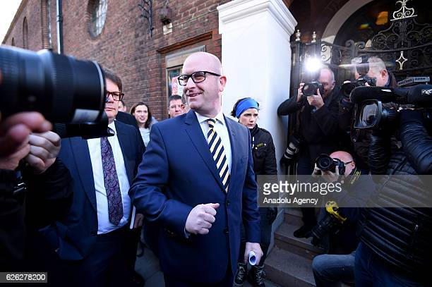 Paul Nuttall speaks to media after being named as the new leader of the UK Independence Party on November 28 2016 in London England The previous...
