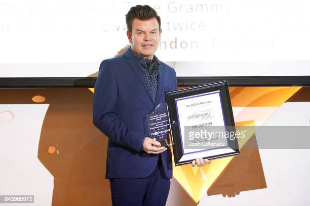 Paul Oakenfold arrives at the 2017 Entrepreneur Awards at Allure Events And Catering on February 22 2017 in Van Nuys California