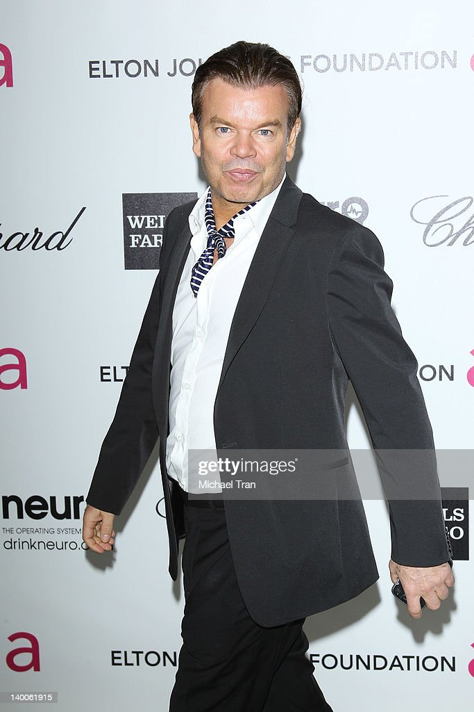 Paul Oakenfold arrives at the 20th Annual Elton John AIDS Foundation Academy Awards viewing party held across the street from the Pacific Design Center on February 26, 2012 in West Hollywood, California.
