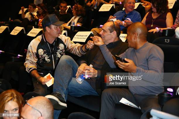 Paul Oakenfold John Lyons and Erick Morillo attend the 'What We Started' Film Premiere at the LA Film Festival on June 15 2017 in Santa Monica...