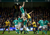 Paul O'Connell of Ireland in action during the international friendly match between Ireland and Australia at Aviva Stadium on November 22 2014 in...