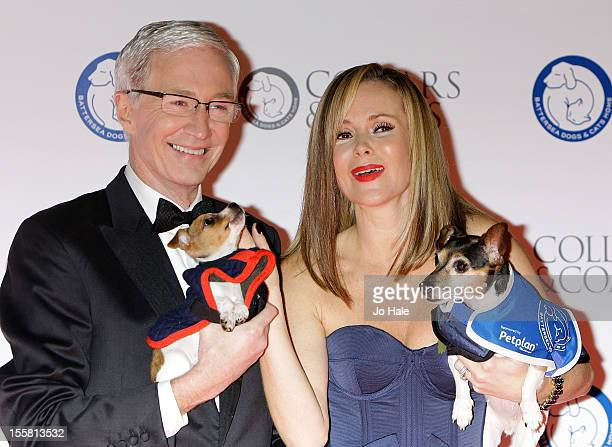 Paul O'Grady and Amanda Holden attend the Collars Coats Gala Ball at Battersea Evolution on November 8 2012 in London England