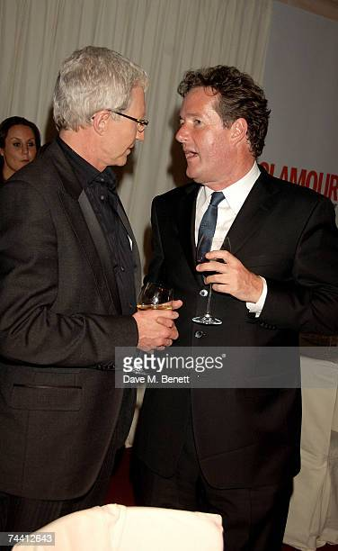 Paul O'Grady and Piers Morgan attend the Glamour Women Of The Year Awards 2007 at the Berkeley Square Gardens on June 5 2007 in London England