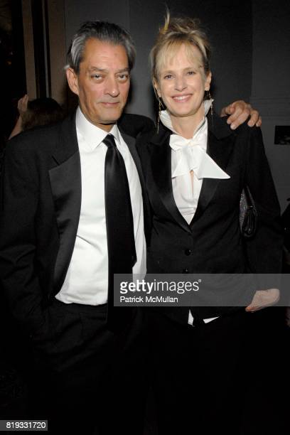 Paul Oster and Siri Hustvedt attend 2010 PEN Literary Gala at American Museum of Natural History on April 27 2010 in New York City