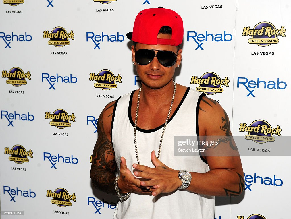DJ Paul 'Pauly D' DelVecchio arrives at the Hard Rock Hotel & Casino during the resort's Rehab pool party on May 1, 2016 in Las Vegas, Nevada.