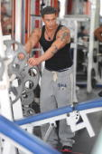 Paul 'Pauly D' DelVecchio is sighted training at the Gym on April 7 2010 in Miami Beach Florida